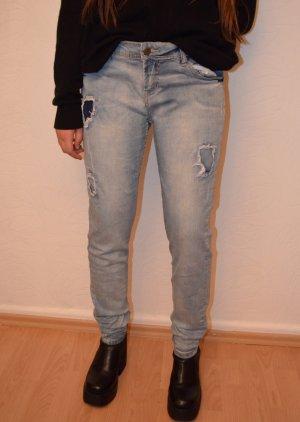 Destressed Denim Jeans 36/38