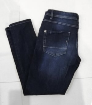 Blue Motion Tube jeans donkerblauw