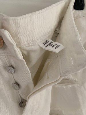 H&M Workowate jeansy biały