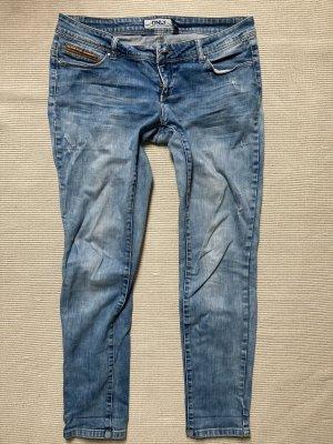 only blue denim Wortel jeans azuur