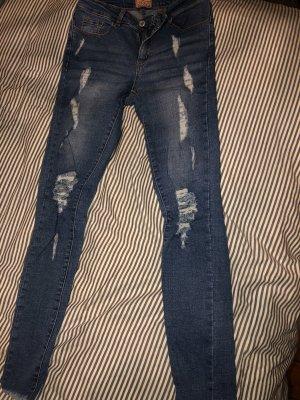 Spodnie z pięcioma kieszeniami niebieski-stalowy niebieski