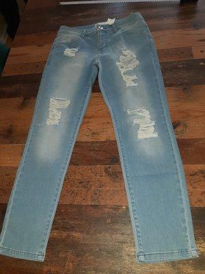 rick cardona Biker Jeans azure