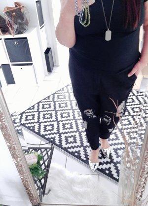 keine Pantalone boyfriend nero-antracite Cotone