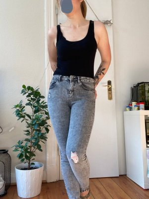 Denim Co. Tube Jeans grey
