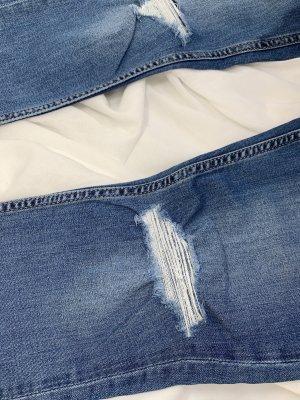 Destroyed Jeans look - Blau