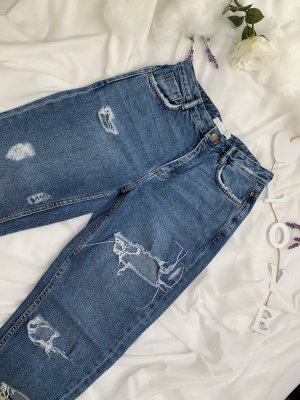 Destroyed Jeans Look / Mom Jeans