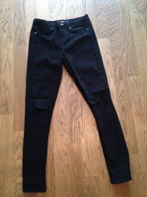 Destroyed Jeans schwarz