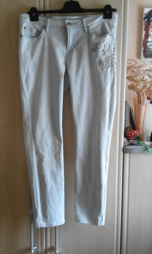 Cambio Slim Jeans light grey cotton