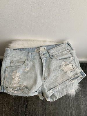 Abercrombie & Fitch Denim Shorts white-azure