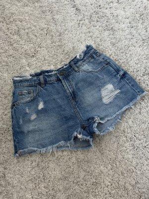 Destroyed Jeansshorts - midwaist - Gr. 36/S