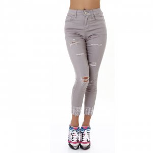 7/8 Length Jeans grey-light grey cotton