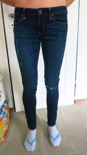 American Eagle Outfitters Stretch Jeans dark blue-blue cotton