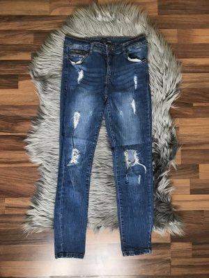 Destroyes Blue Jeans