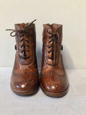 Details zu  Belstaff Ankle Boot Agnes slim, Größe 38, antique cuero