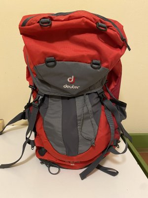 Deuter Trekking Backpack pale blue-red