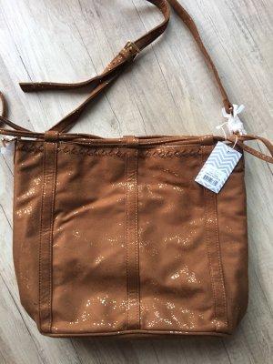 deux lux Pouch Bag brown-gold-colored