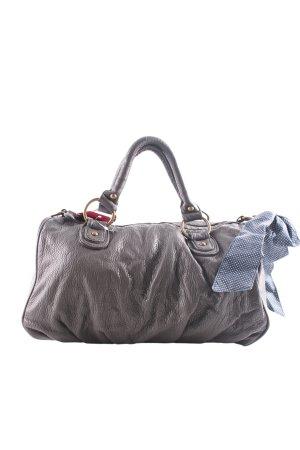deux lux Bowlingtasche silberfarben-blau Punktemuster Business-Look