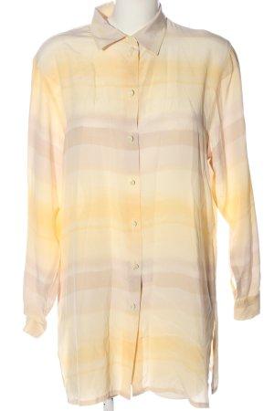 Devernois Long Sleeve Shirt cream-light orange striped pattern casual look