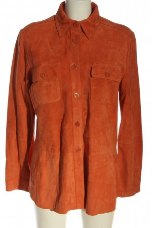 Devernois Leather Jacket red casual look