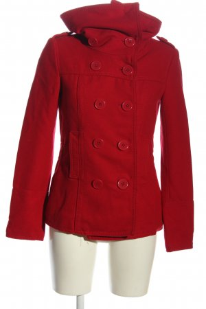 devided Short Coat red casual look