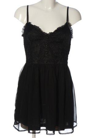 devided Mini Dress black elegant
