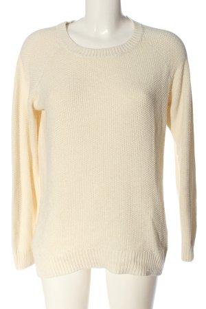 devided Crewneck Sweater cream casual look