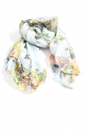 devided Summer Scarf flower pattern casual look