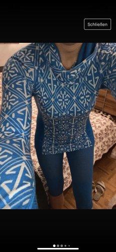 Devold Blusa con capucha azul