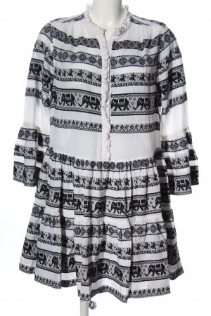 Devotion Hippie Dress white-black allover print casual look