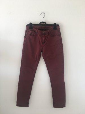 Deyk Pantalon cinq poches rouge carmin-violet