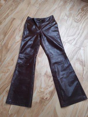 Deyk Connemara Pantalon en cuir brun foncé