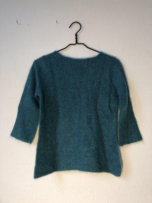 Deyk Connemara Pull en laine turquoise