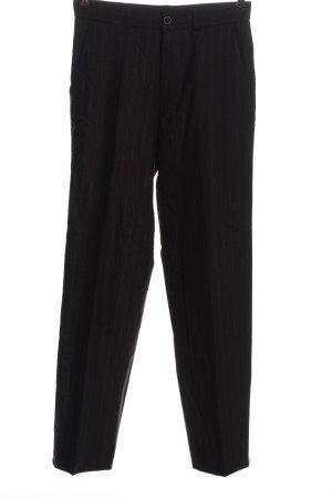 Deyk Connemara Pantalon en laine noir motif rayé style d'affaires