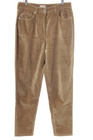 Deyk Pantalón de cinco bolsillos marrón arena Aplicación del logotipo