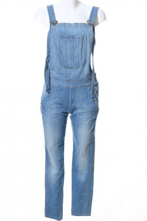 Deyk Bib Denim blue casual look