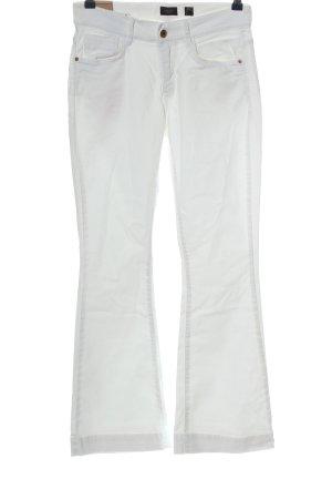 Deyk Pantalone a zampa d'elefante bianco stile casual