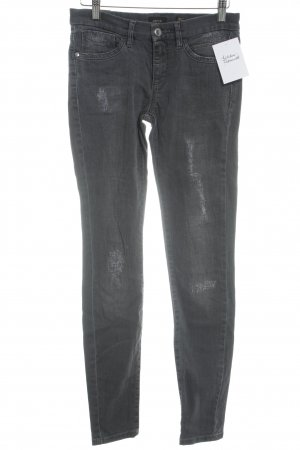 Deyk Skinny Jeans anthrazit Used-Optik