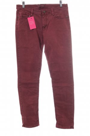 Deyk Skinny Jeans dunkelrot Casual-Look