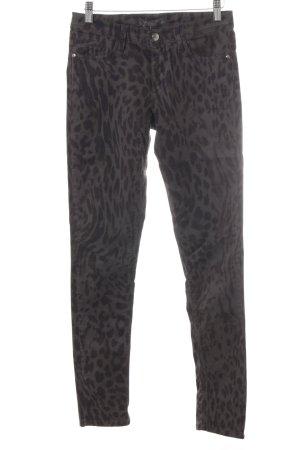 Deyk Skinny Jeans graubraun-dunkelbraun Leomuster Casual-Look