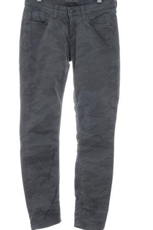 Deyk Slim Jeans grau-dunkelgrau Camouflagemuster Casual-Look