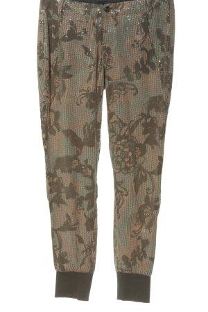 Deyk Pantalone jersey motivo floreale stile casual