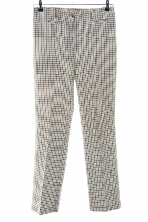 Deyk Pantalone jersey bianco sporco-nero motivo a quadri stile professionale