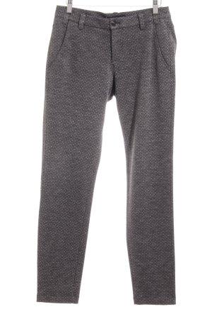 Deyk Pantalone elasticizzato argento-grigio chiaro stampa integrale