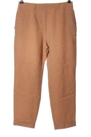 Deyk Pantalon en laine brun motif à carreaux style décontracté