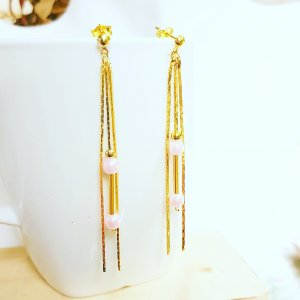 Gold Earring rose-gold-coloured-gold-colored