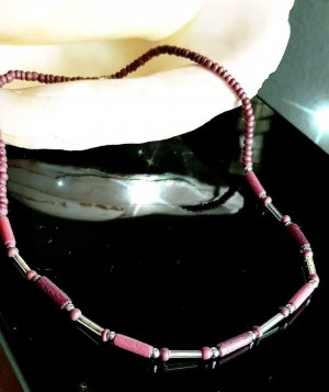 Dezente Holz Perlenkette, 42cm, handmade
