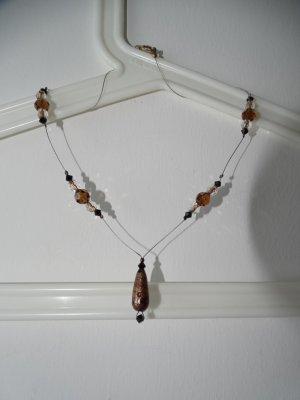 Naszyjnik z perłami Wielokolorowy Metal