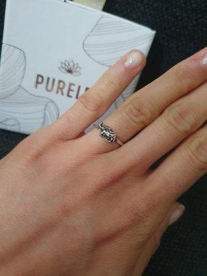 Flohmarkt Zdobiony pierścionek srebrny