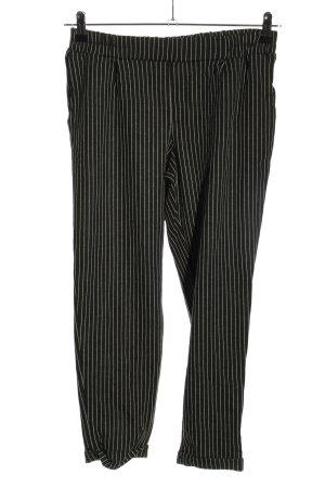 df young 7/8-Hose schwarz-weiß Streifenmuster Casual-Look