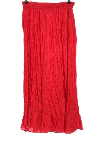 di Bari Zijden rok rood casual uitstraling
